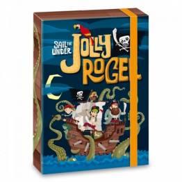 Ars Una кутия с ластик A4 Jolly Roger Ученически пособия