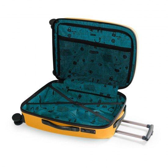 ABS куфар 67 см. жълт – Paradise