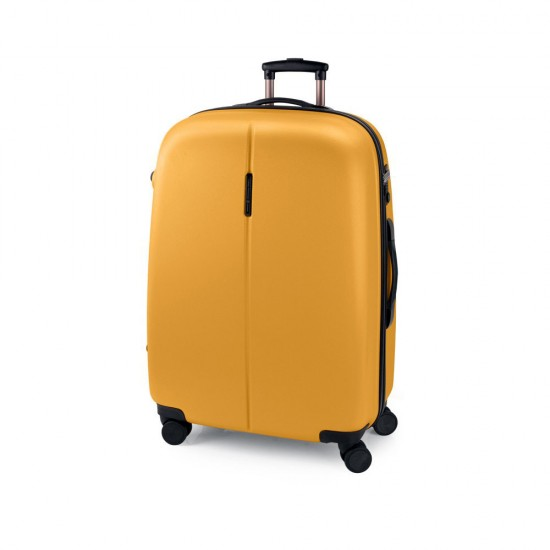 ABS куфар 77 см. жълт /горчица/ – Paradise