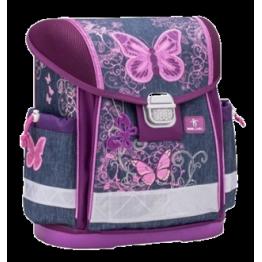 Belmil ученическа раница с едно отделение - Purple Flying Butterfly